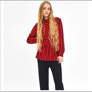 Zara long sleeve with puff-sleeves
